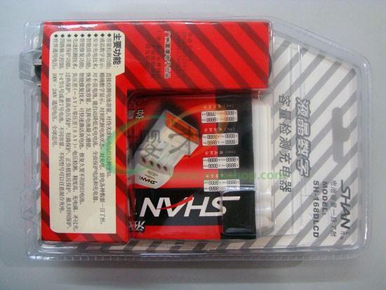 雷鹰shan-168 数字型检测液晶充电器 真正的智慧眼显示(珍珠白)智能